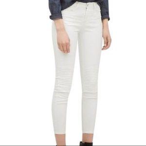 Zara skinny coated biker jeans new